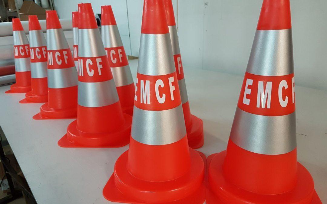 Personnalisation de cônes de chantier