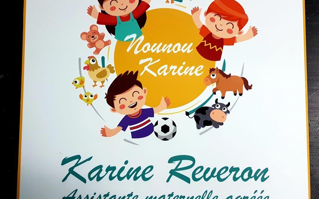 RCE Nové : création d'un panneau pour une assistante maternelle !